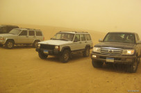 Desert safari by off-road vehicle