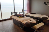 Spa & sea treatment room